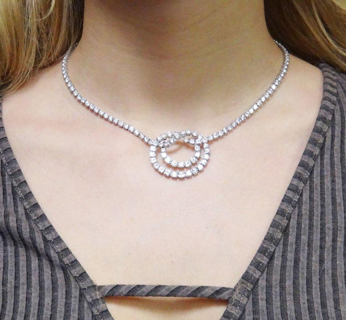 Van Cleef & Arpels Plat 950 20 Carat Diamond Necklace - 8