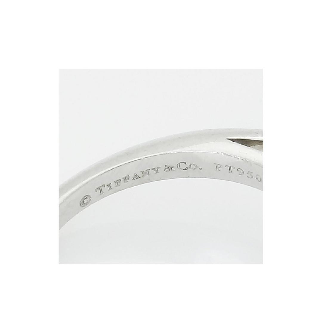 TIFFANY & CO PT 950 2.02CT VS1 E G.I.A. CERT RING - 4
