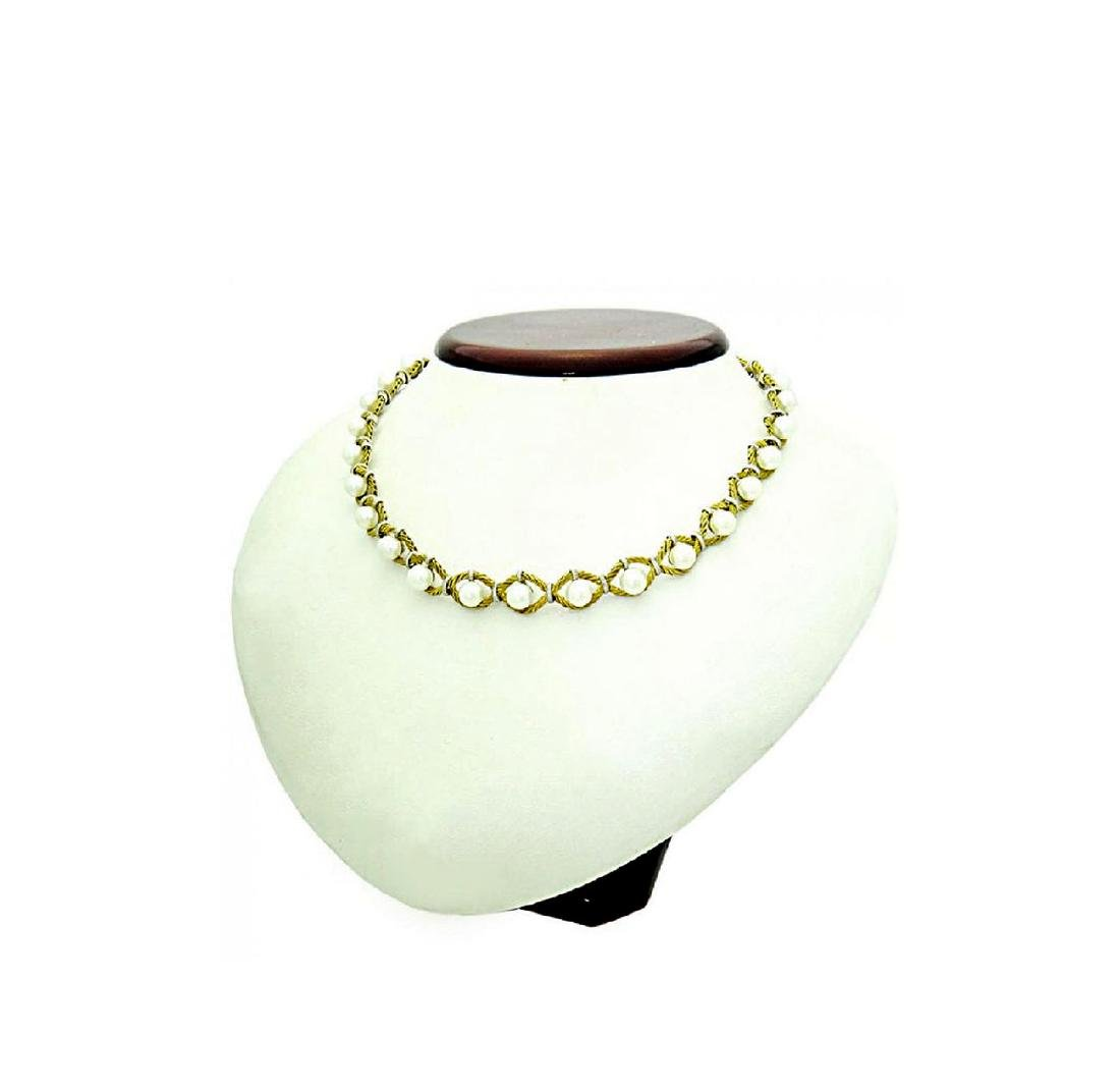 M. Buccelati 18k Two Tone Yellow Gold Necklace