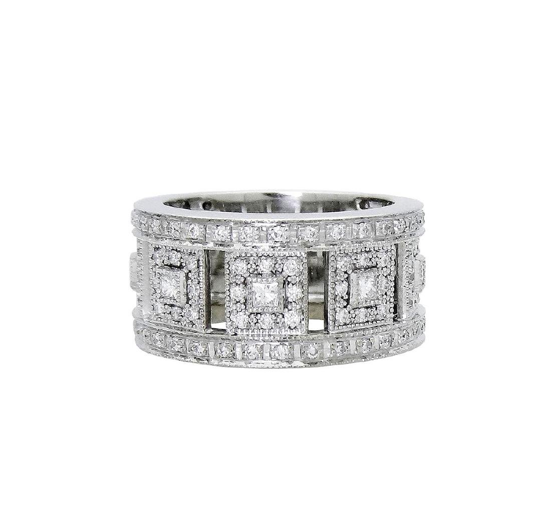 Charriol 18K White Gold Diamond ring size 6.5