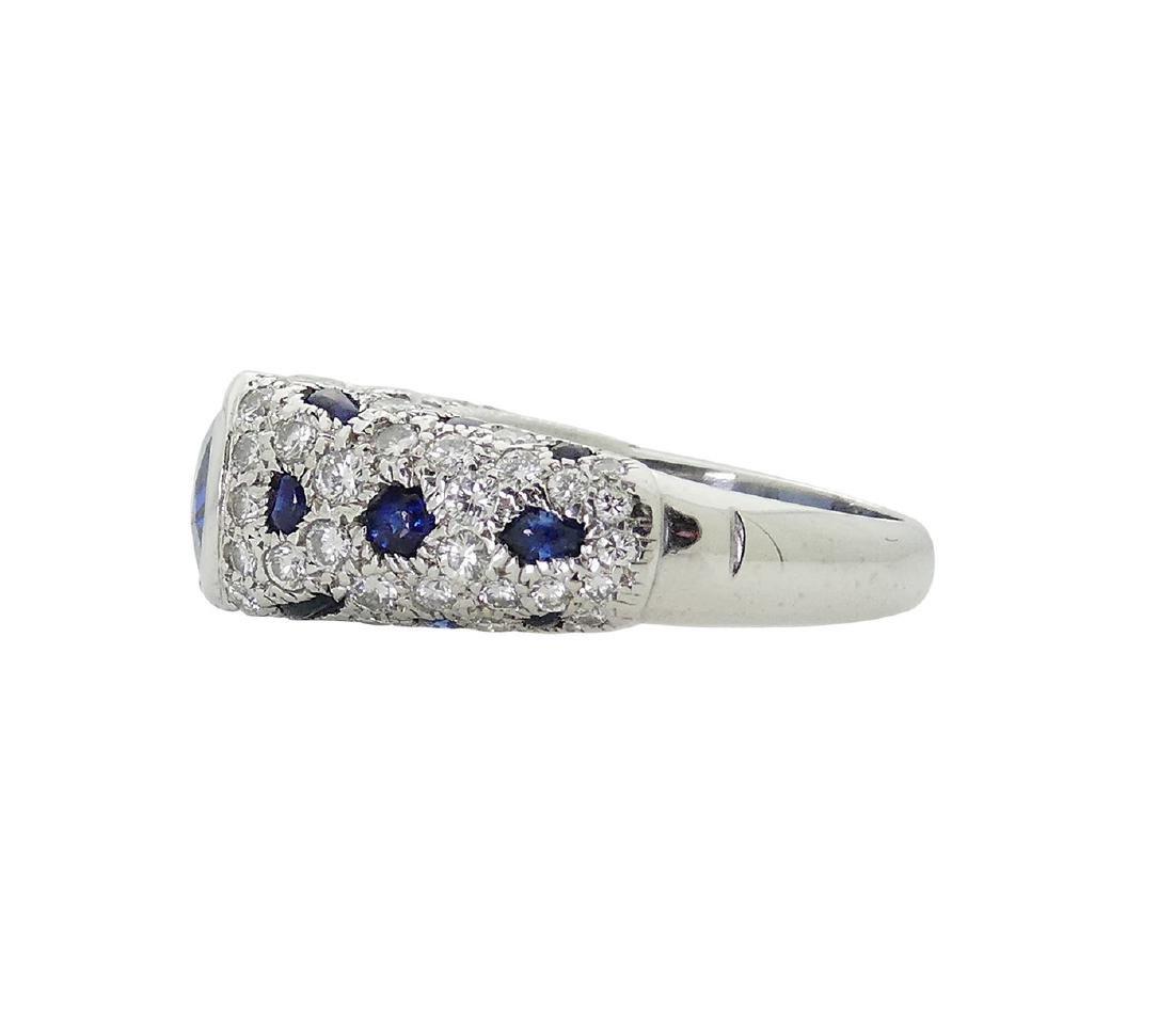 Cartier Platinum 5.21 Sapphire Diamond Panthere Ring - 2