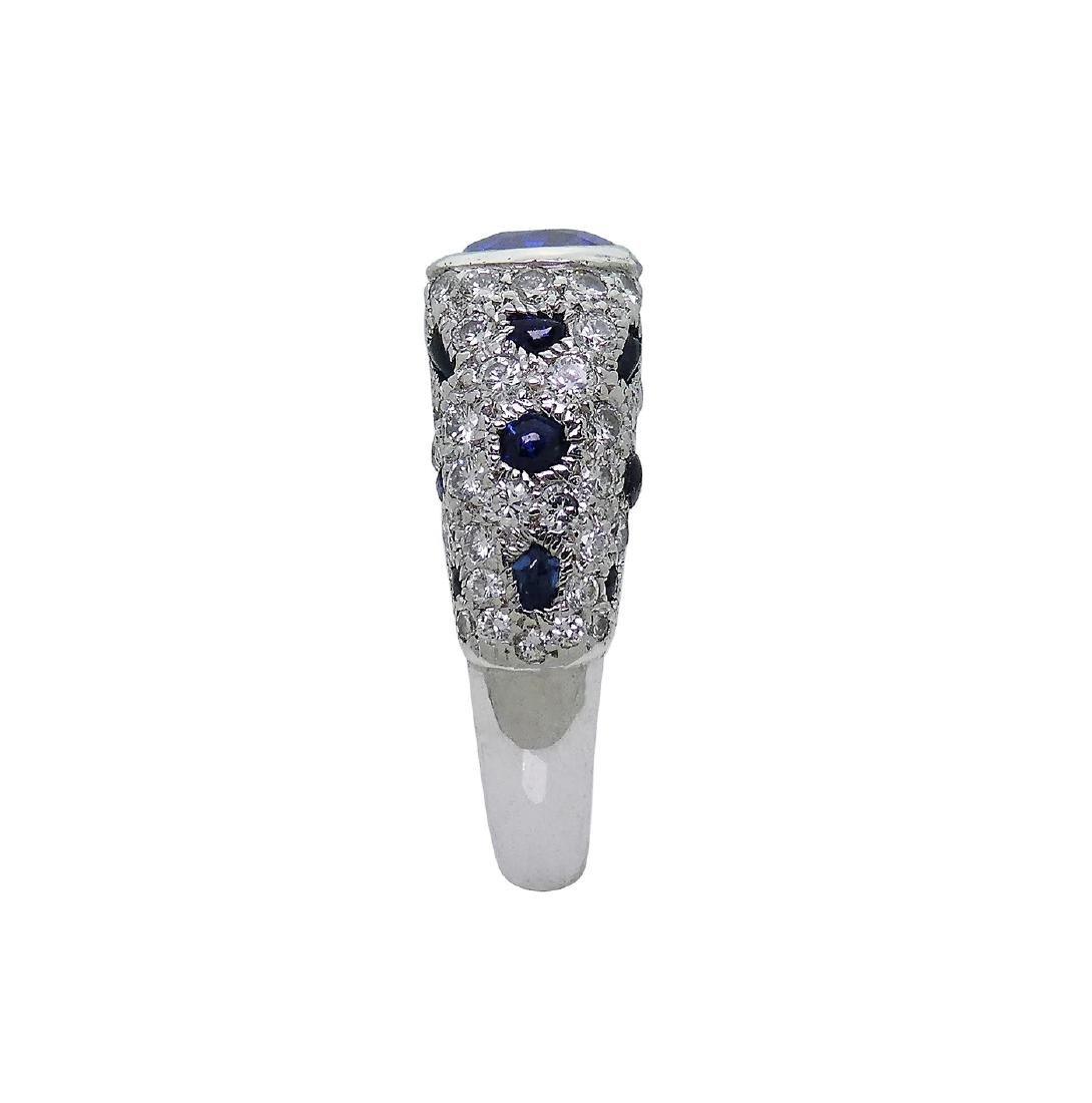 Cartier Platinum 5.21 Sapphire Diamond Panthere Ring - 4
