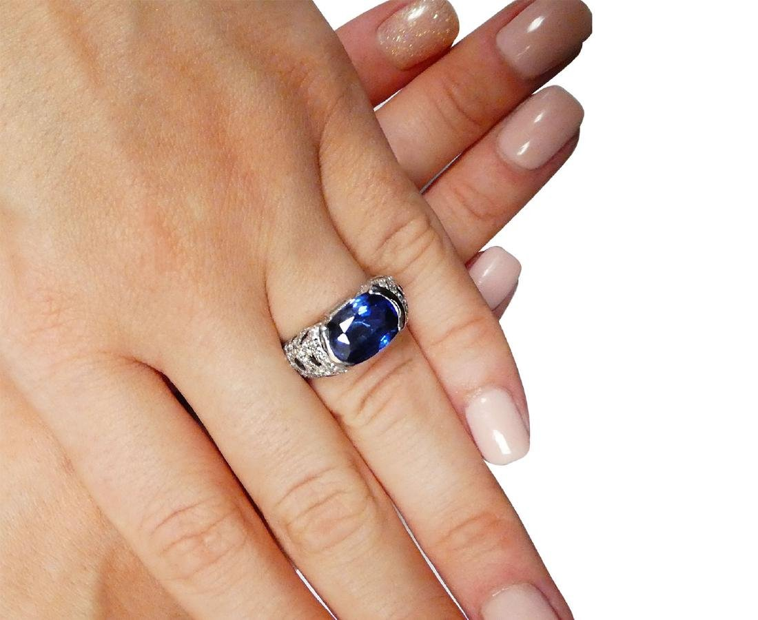 Cartier Platinum 5.21 Sapphire Diamond Panthere Ring - 5
