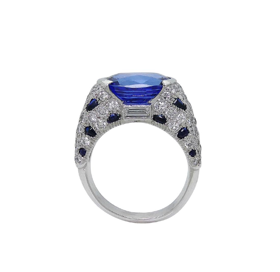 Cartier Platinum 5.21 Sapphire Diamond Panthere Ring - 6