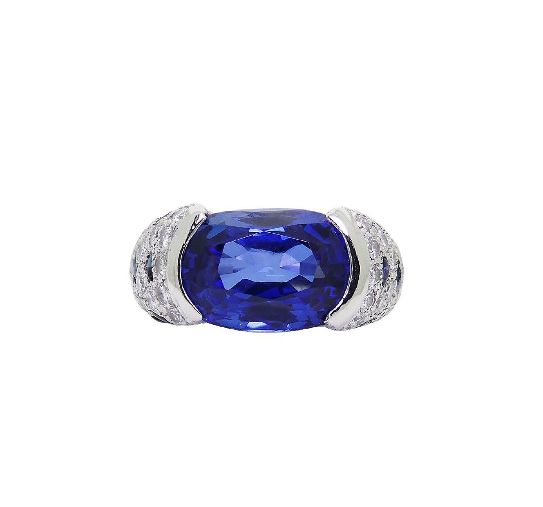 Cartier Platinum 5.21 Sapphire Diamond Panthere Ring - 8