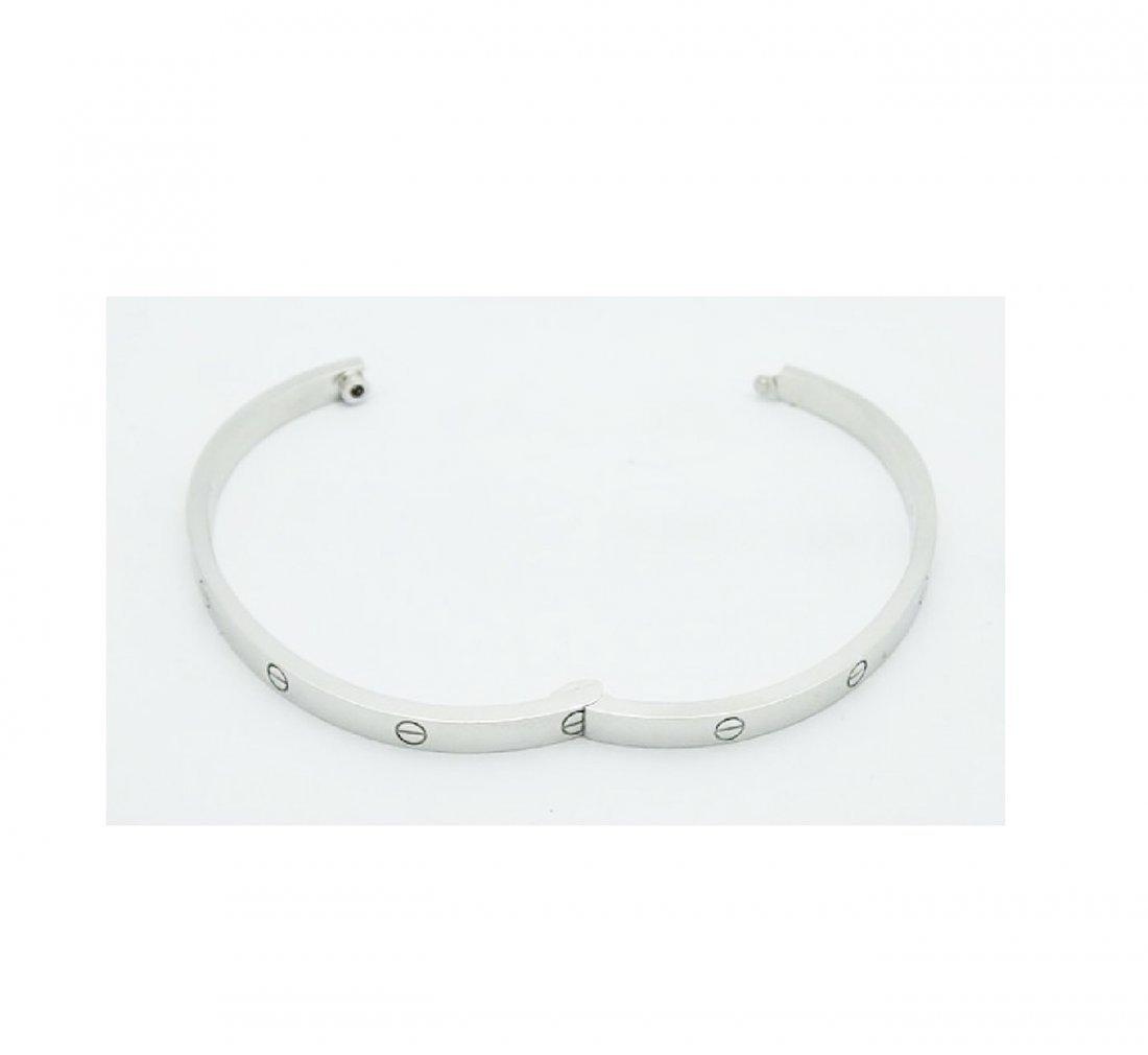Cartier 18K White Gold LOVE Small Bracelet - 3