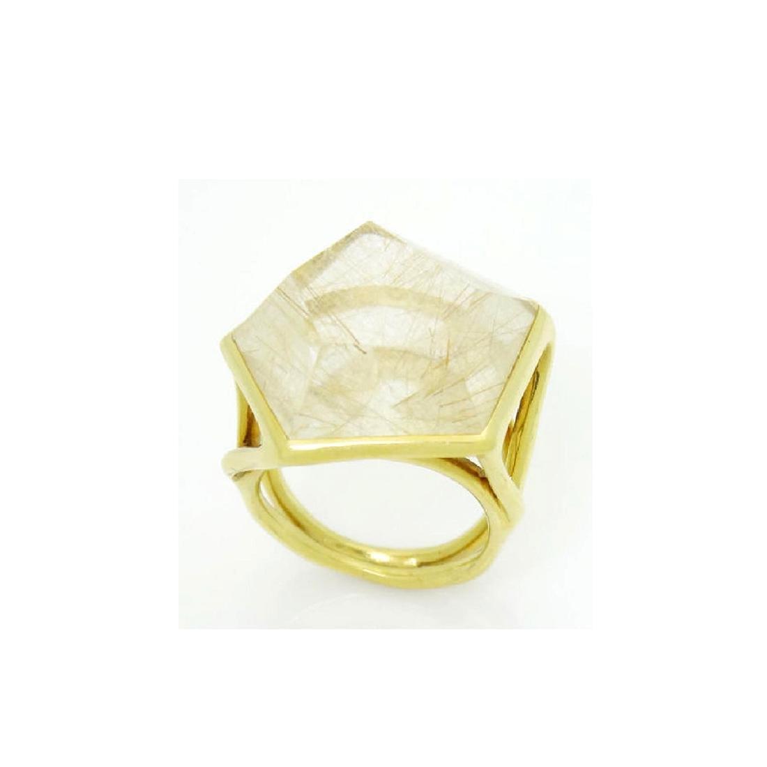 Ippolita 18k Yellow Gold & Large Quartz Rock Candy