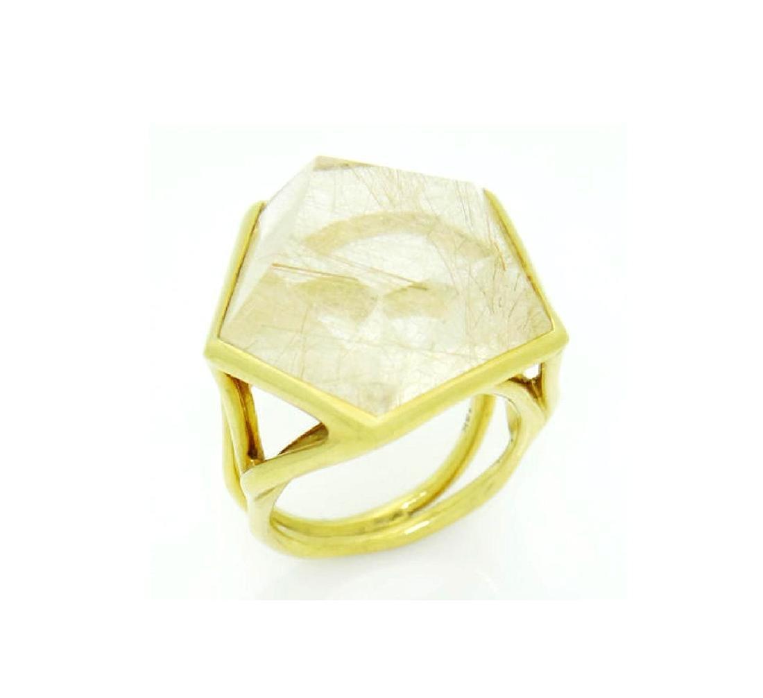 Ippolita 18k Yellow Gold & Large Quartz Rock Candy - 6