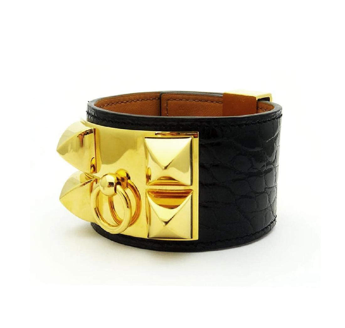 Hermes Collier de Chien Black Alligator Leather - 2