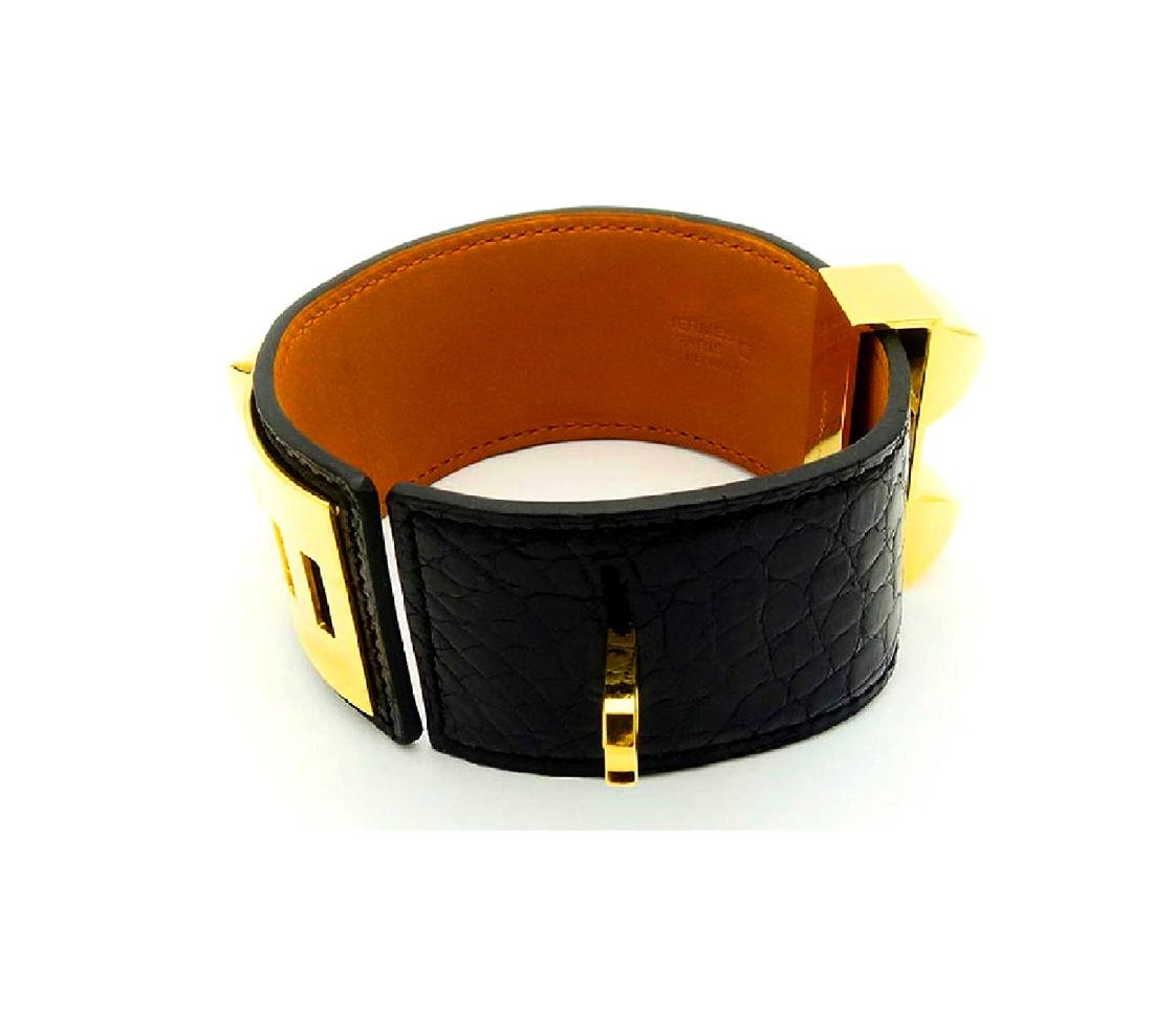 Hermes Collier de Chien Black Alligator Leather - 5
