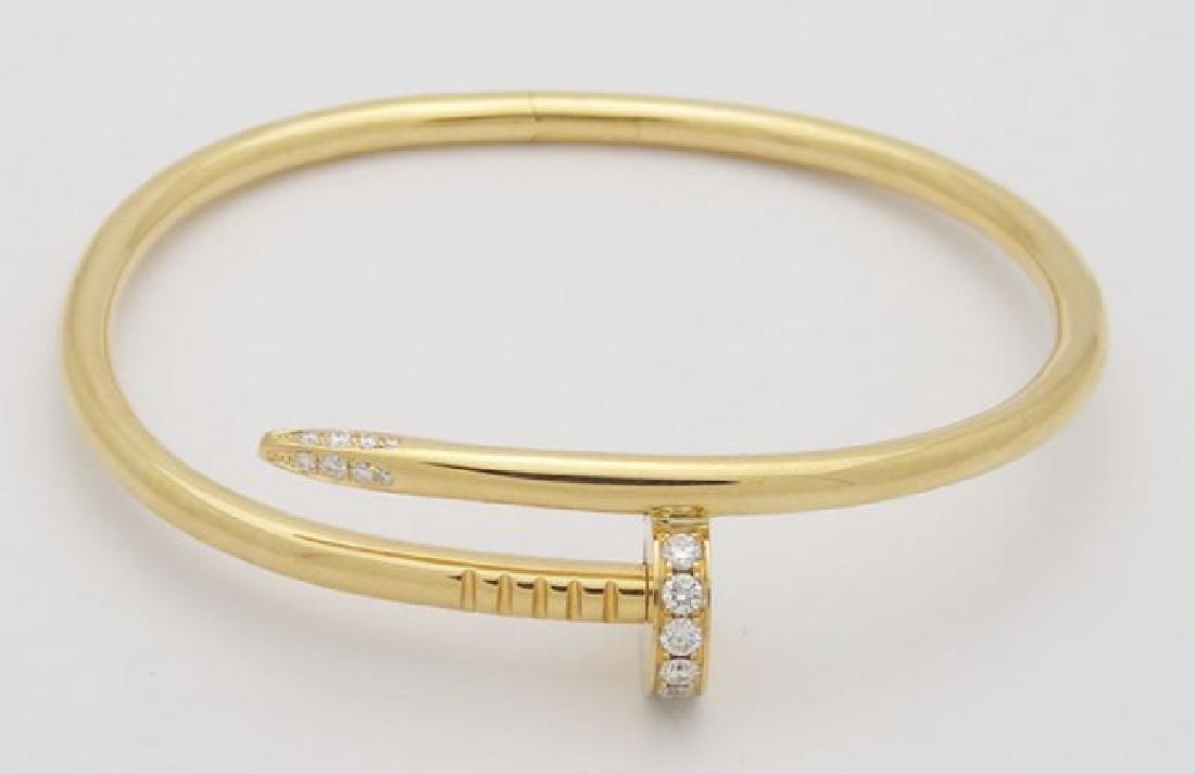 Cartier Nail 18K Yellow Gold Diamond Bracelet