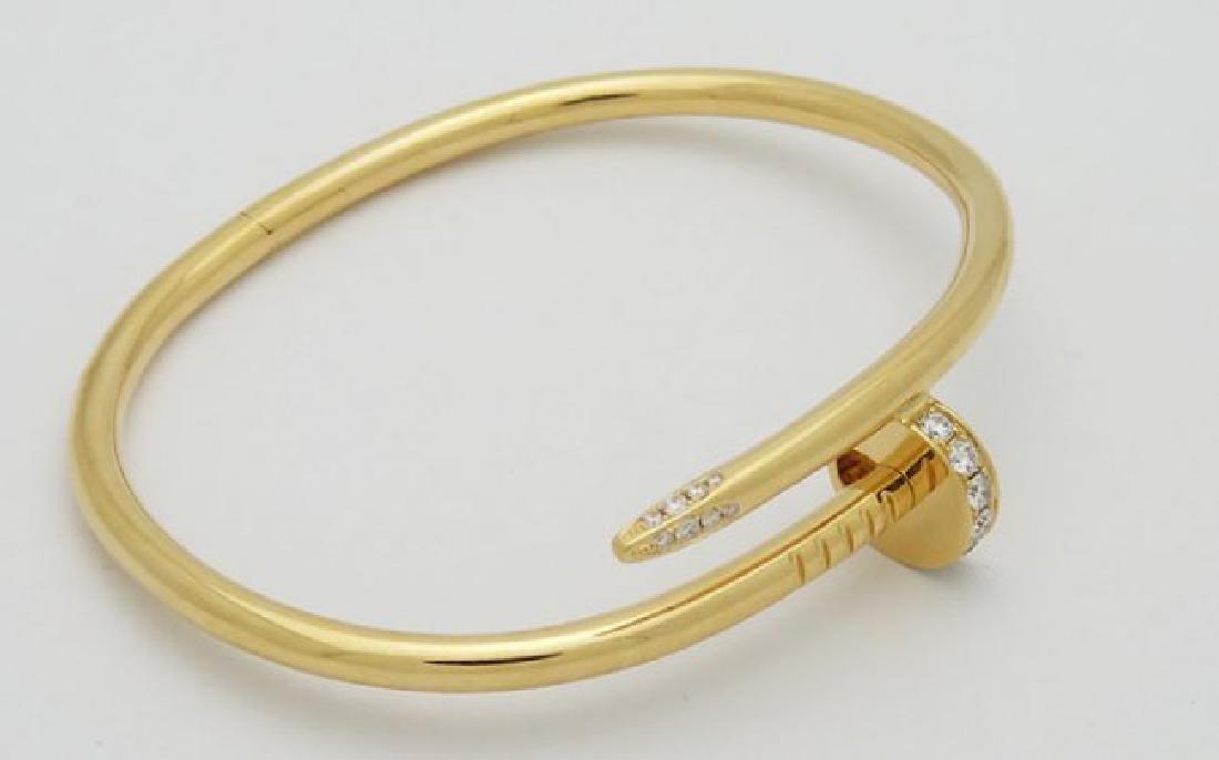 Cartier Nail 18K Yellow Gold Diamond Bracelet - 2