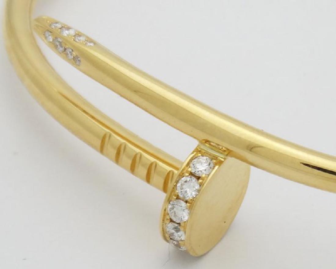Cartier Nail 18K Yellow Gold Diamond Bracelet - 3