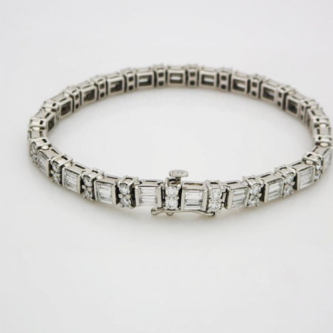 Estate 950 Platinum and apx 8CT VS/F Diamond Bracelet