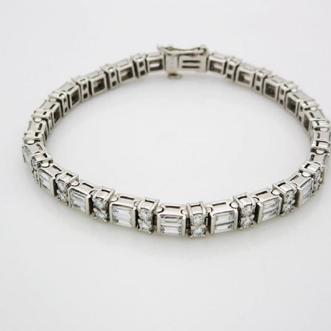 Estate 950 Platinum and apx 8CT VS/F Diamond Bracelet - 2