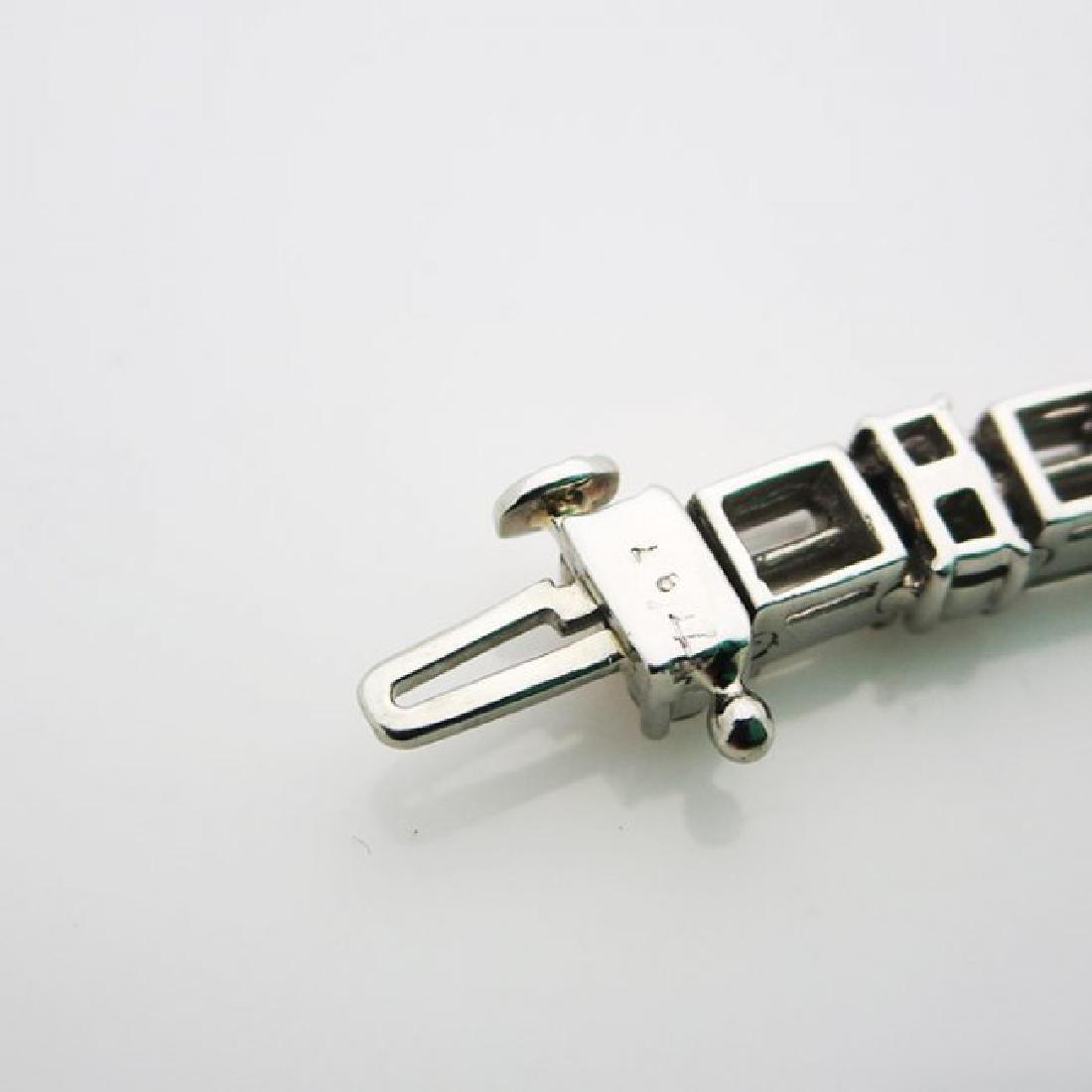Estate 950 Platinum and apx 8CT VS/F Diamond Bracelet - 3