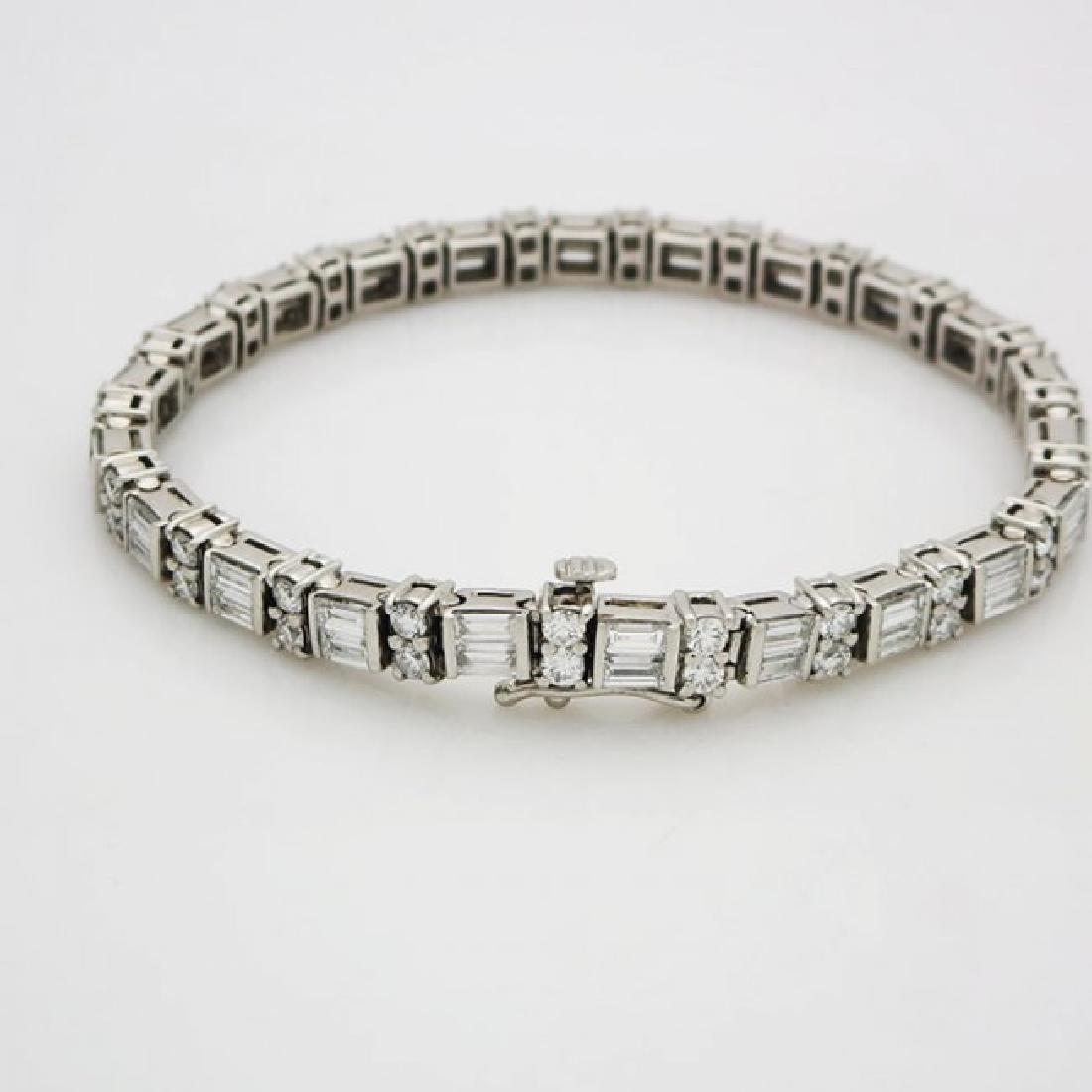 Estate 950 Platinum and apx 8CT VS/F Diamond Bracelet - 4