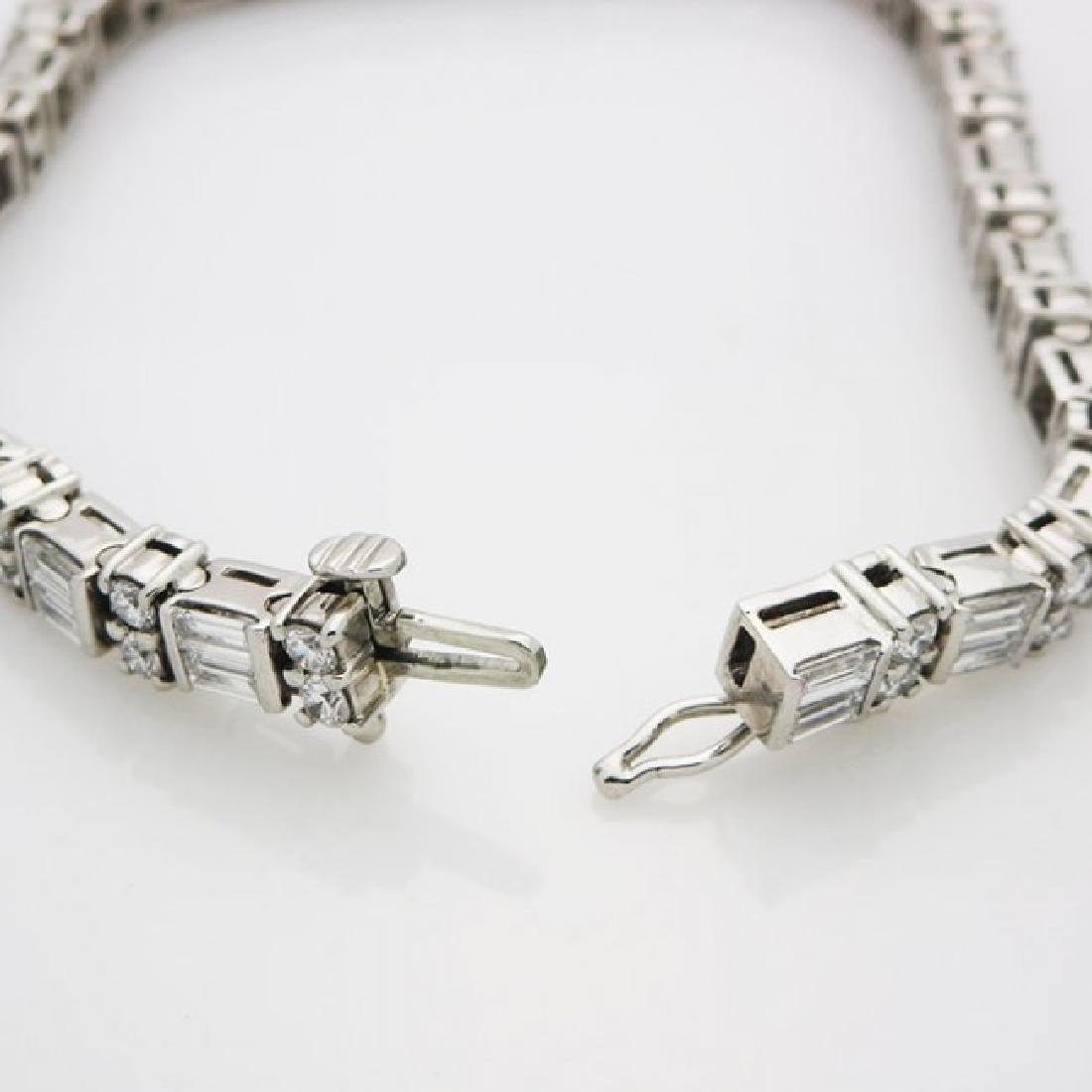 Estate 950 Platinum and apx 8CT VS/F Diamond Bracelet - 5