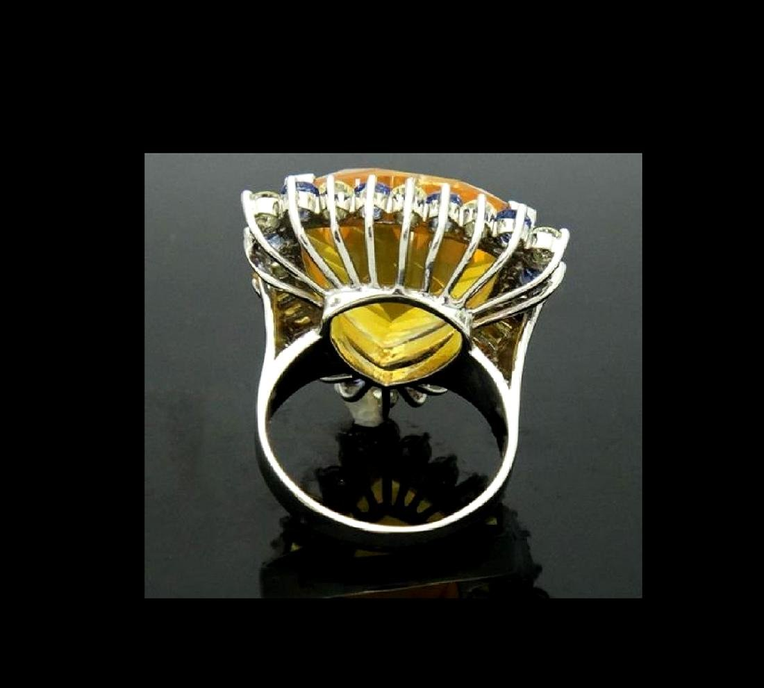 14K NATURAL OPAL 3.5CT DIAMOND TANZANITE CITRINE RING - 3