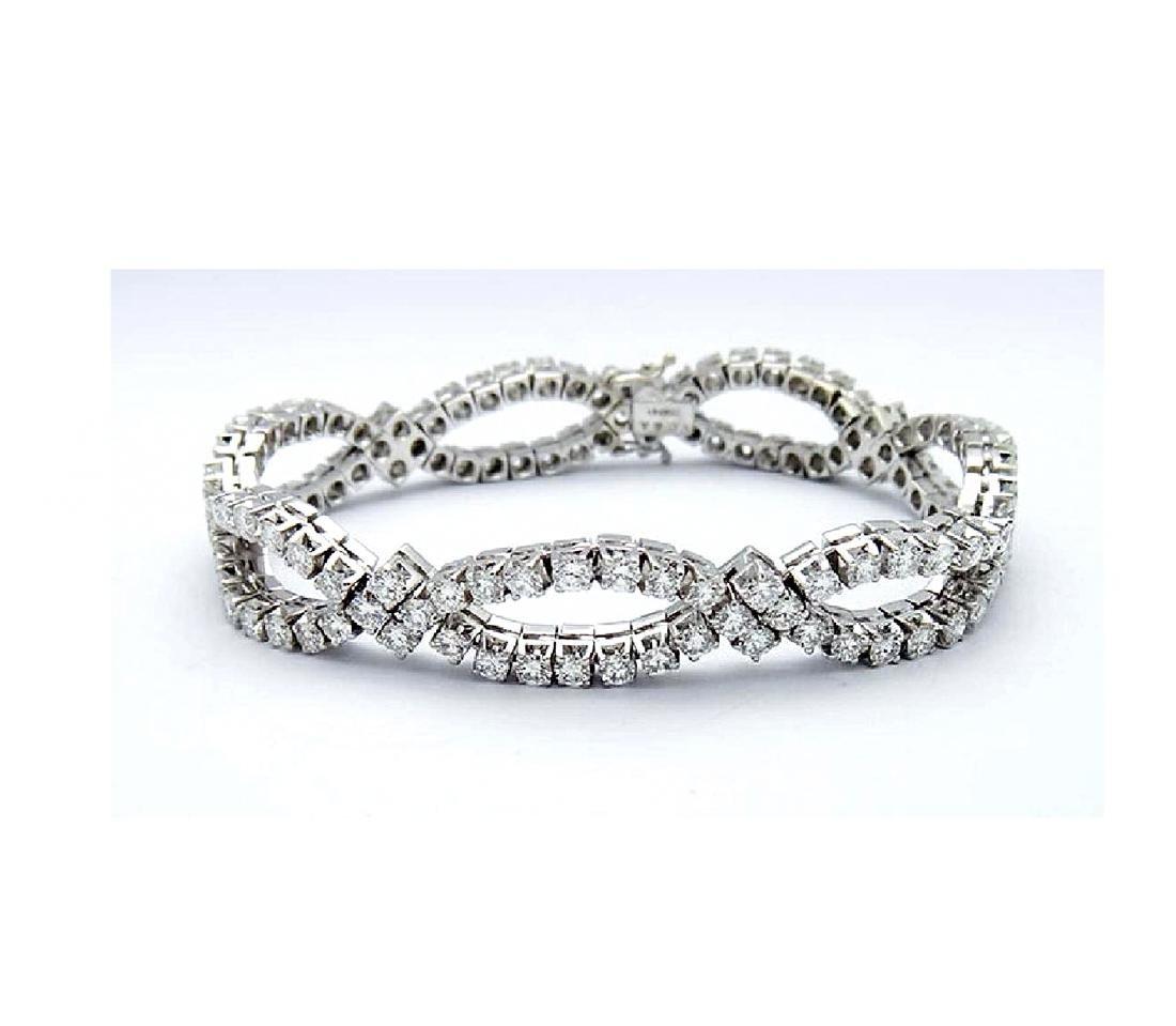 Van Cleef & Arpels 18K Gold 9.5 TCW Diamond Bracelet