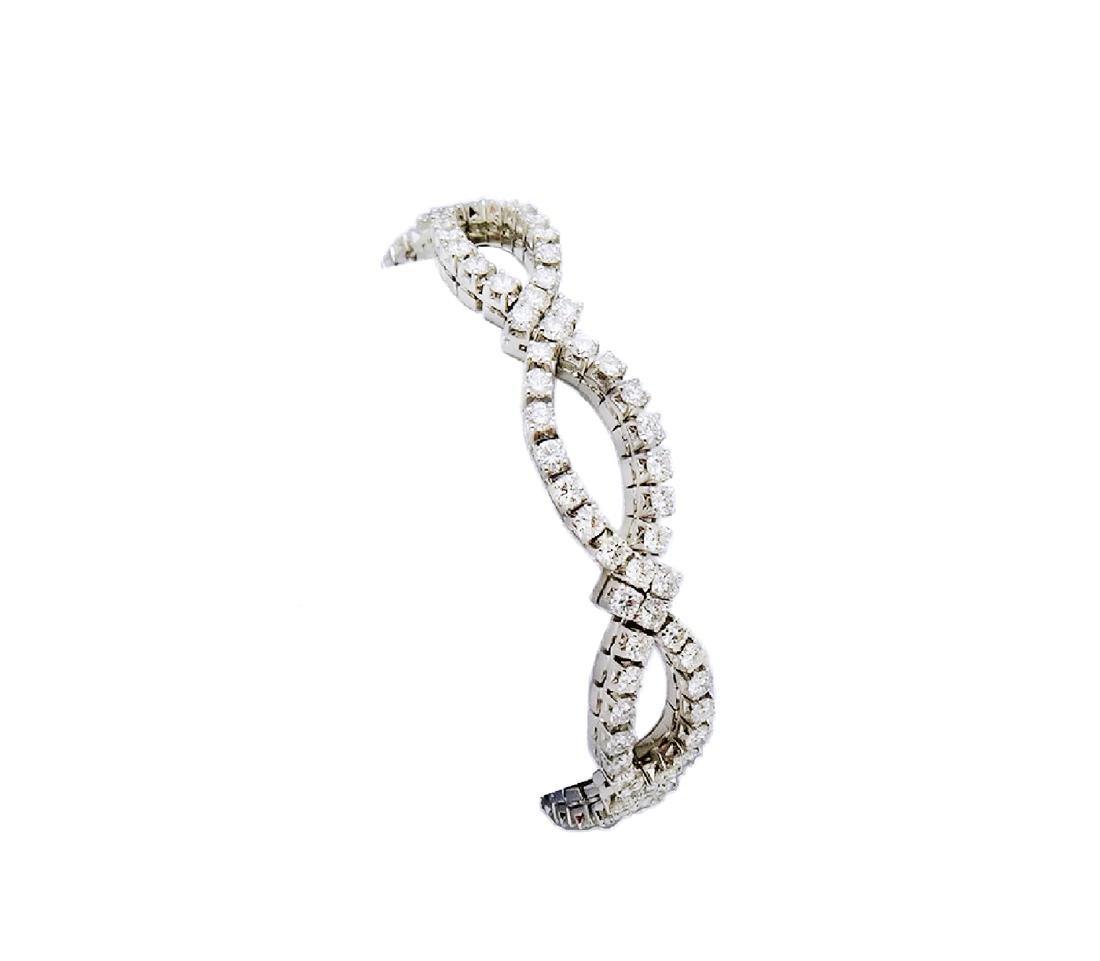 Van Cleef & Arpels 18K Gold 9.5 TCW Diamond Bracelet - 2