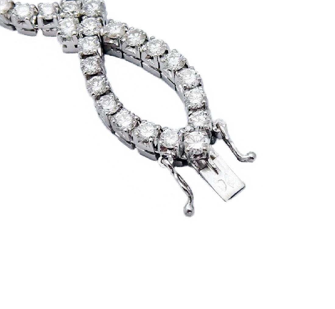 Van Cleef & Arpels 18K Gold 9.5 TCW Diamond Bracelet - 4