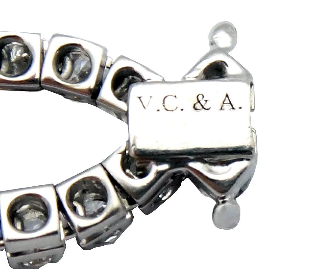 Van Cleef & Arpels 18K Gold 9.5 TCW Diamond Bracelet - 5