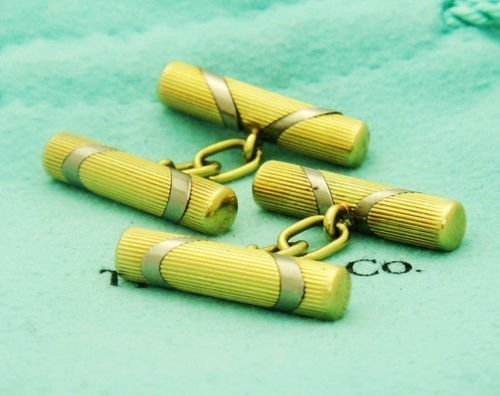 Tiffany & Co. CUFFLINKS 18k Yellow Gold Italian