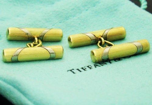 Tiffany & Co. CUFFLINKS 18k Yellow Gold Italian - 2