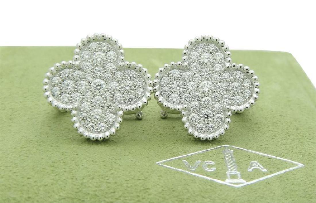 Van Cleef & Arpels 18k Magic Alhambra Diamond Earrings