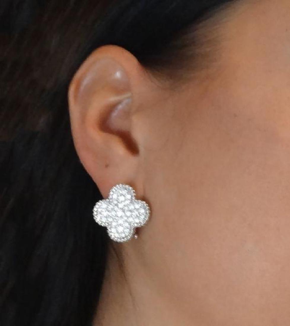 Van Cleef & Arpels 18k Magic Alhambra Diamond Earrings - 5