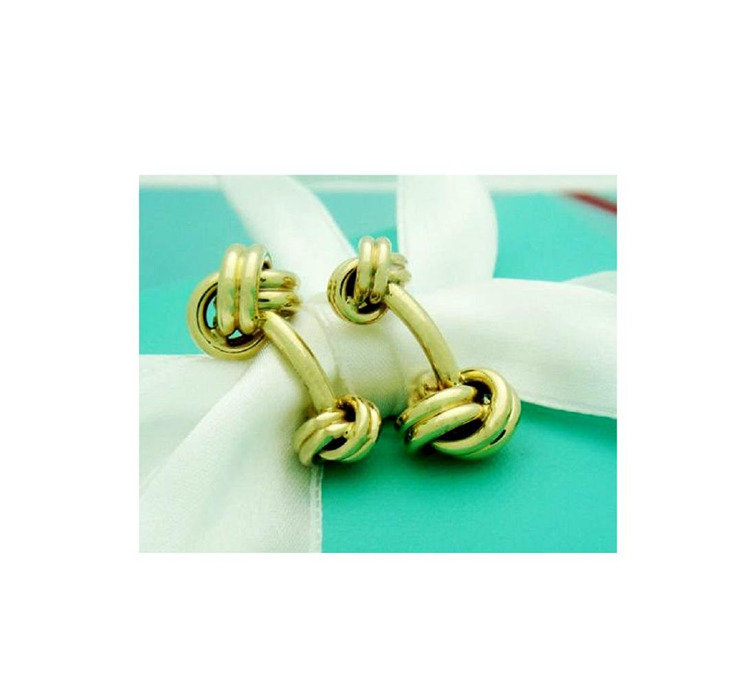 Tiffany & Co. 14k (585) Knot Cuff Links