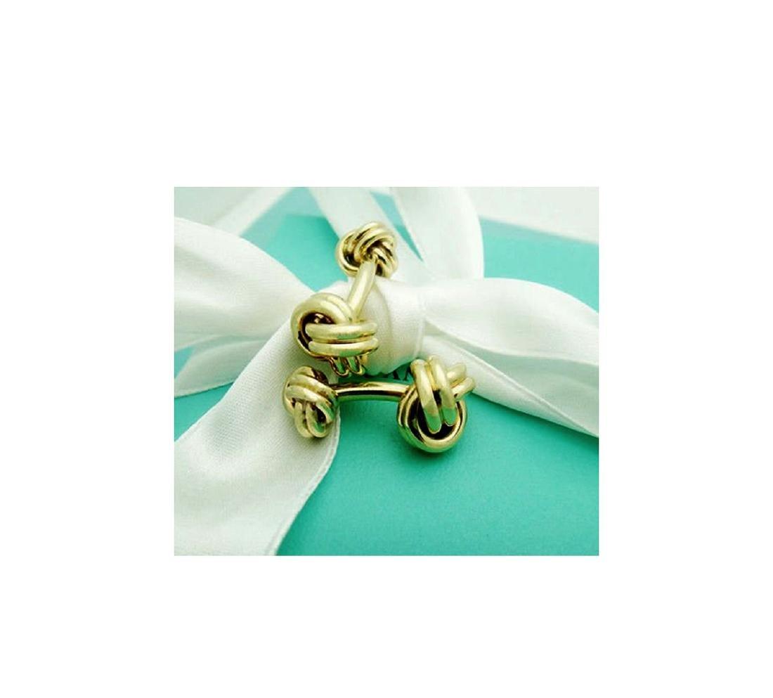 Tiffany & Co. 14k (585) Knot Cuff Links - 2