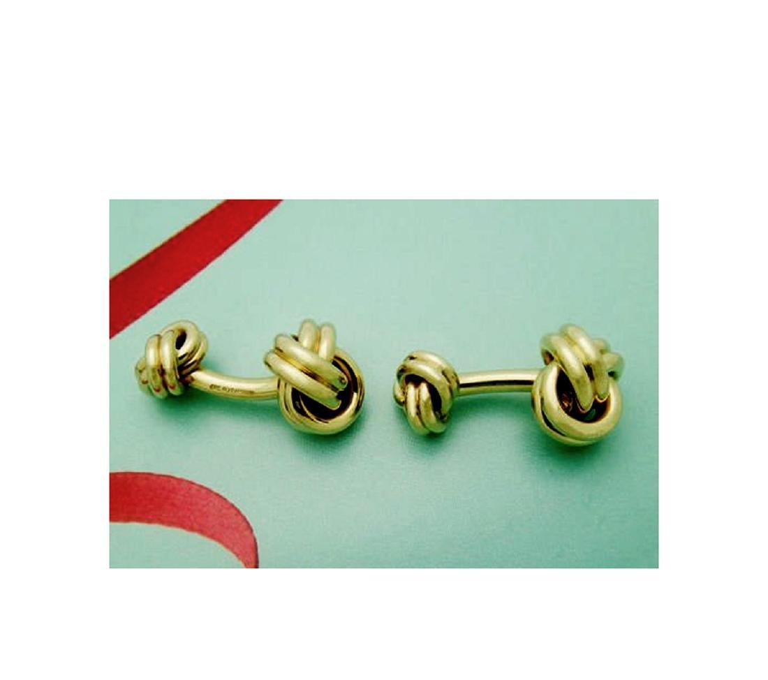 Tiffany & Co. 14k (585) Knot Cuff Links - 3