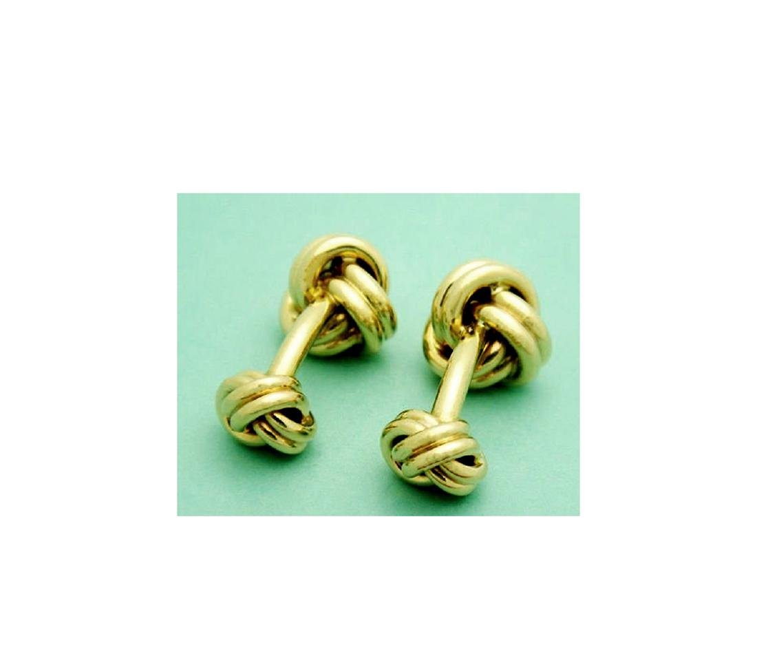 Tiffany & Co. 14k (585) Knot Cuff Links - 7