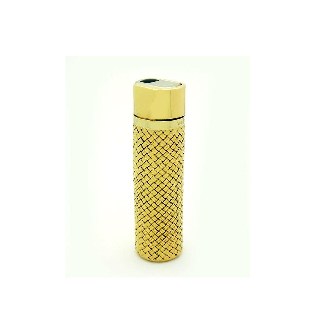 Rare Van Cleef & Arpels 18K Gold Woven Butane Lighter
