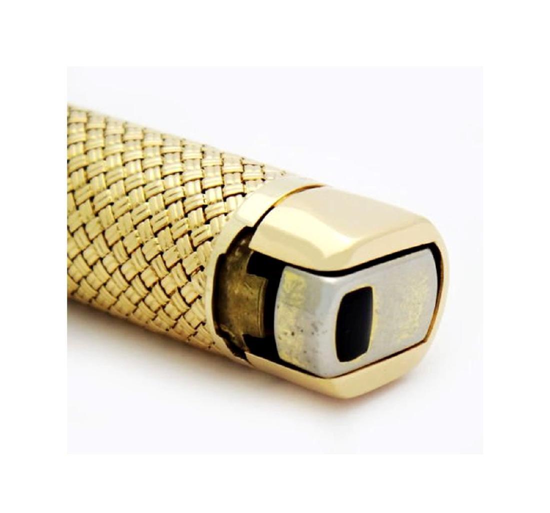 Rare Van Cleef & Arpels 18K Gold Woven Butane Lighter - 4