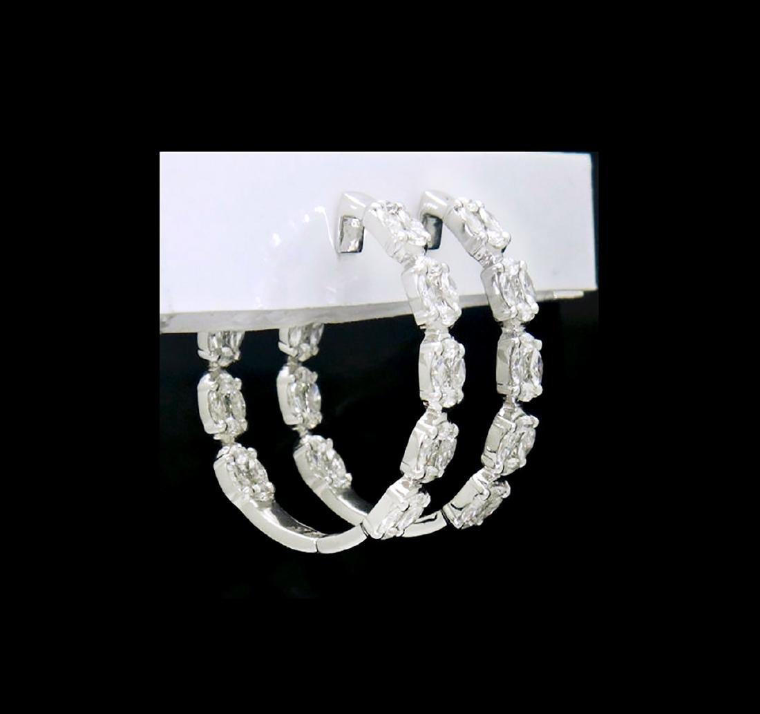 18k White Gold 4.80 TCW Brilliant Diamond Inside Out - 2