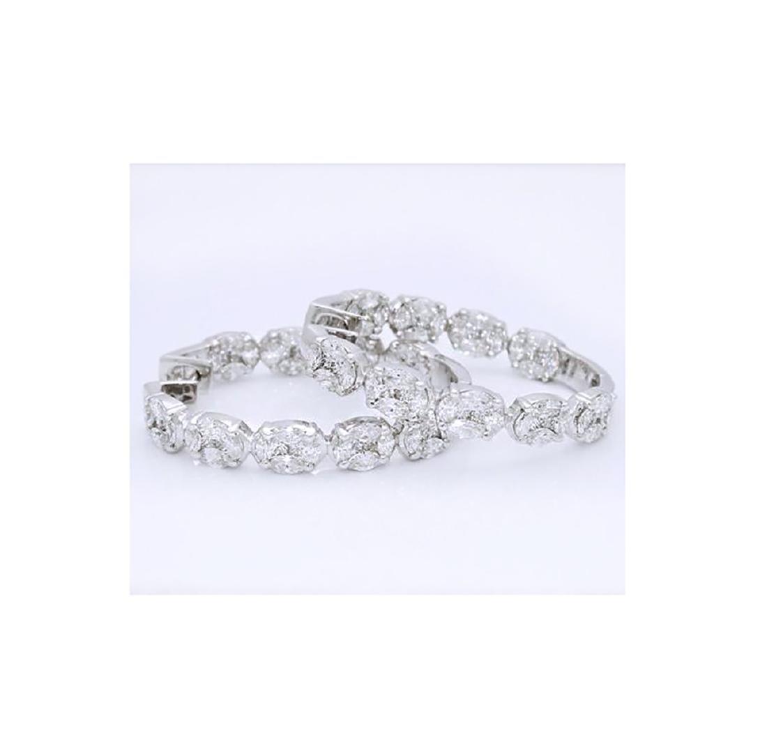 18k White Gold 4.80 TCW Brilliant Diamond Inside Out - 3