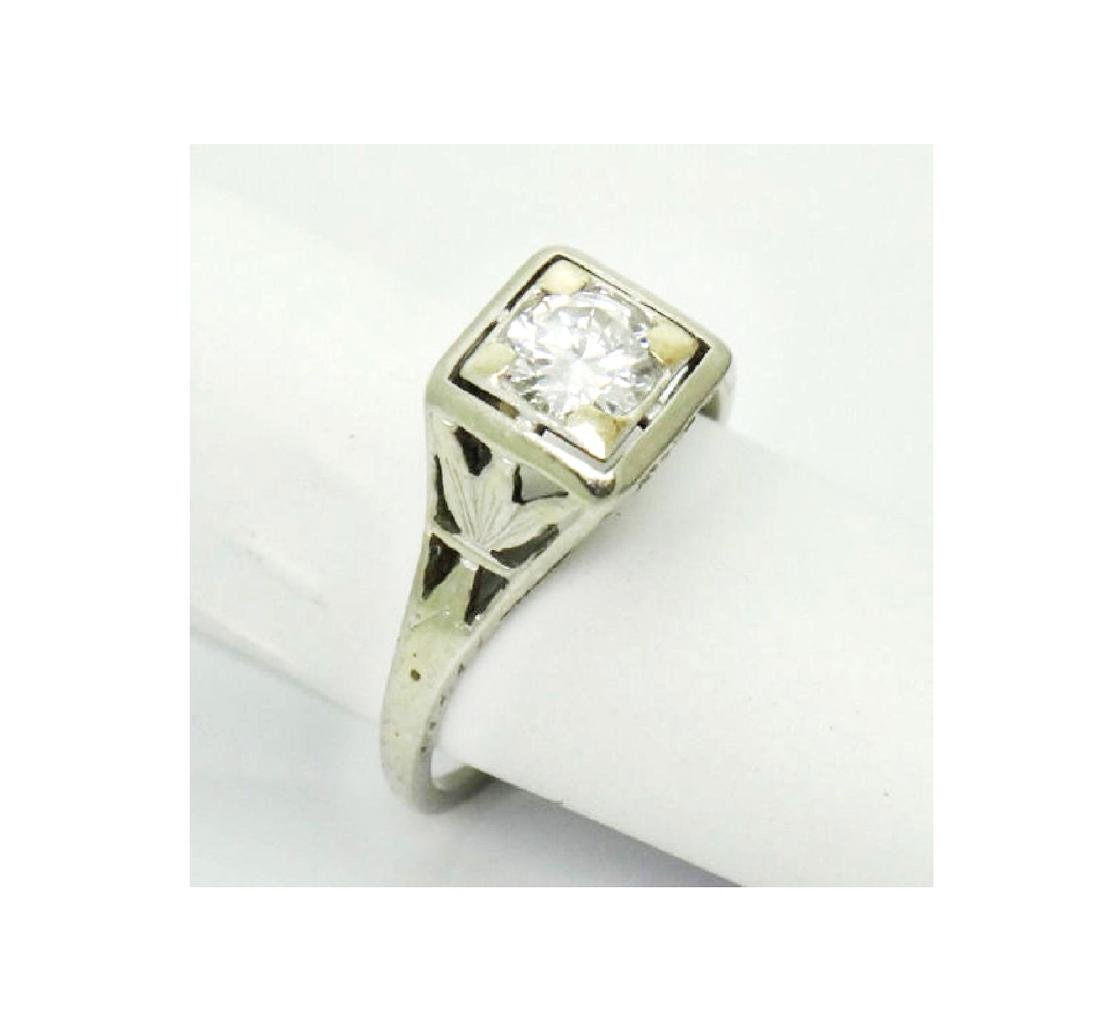 Antique Estate 18k Gold 0.50CT VS2 F Diamond Ring - 3