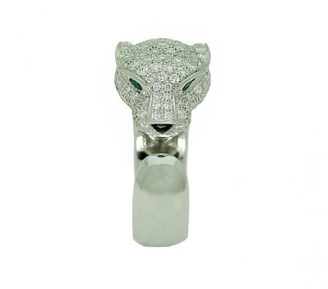 Cartier Panthere 18k Gold Diamond Emerald Onyx Ring