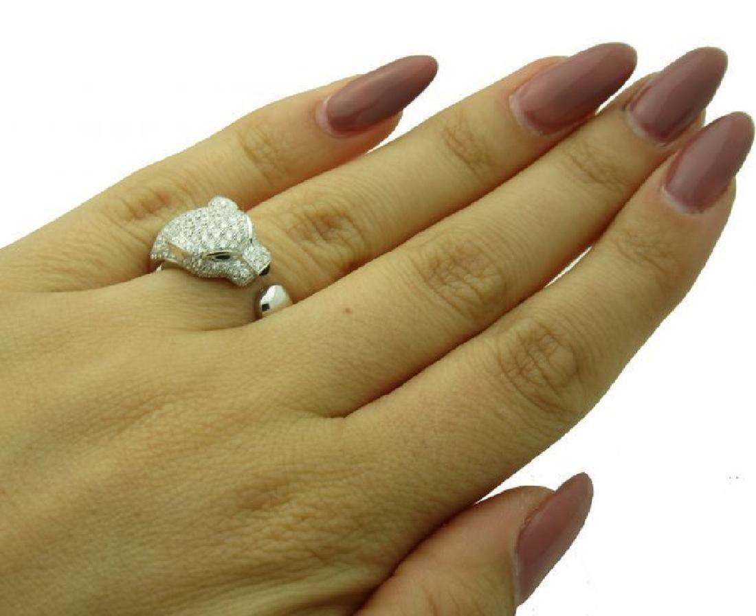 Cartier Panthere 18k Gold Diamond Emerald Onyx Ring - 5