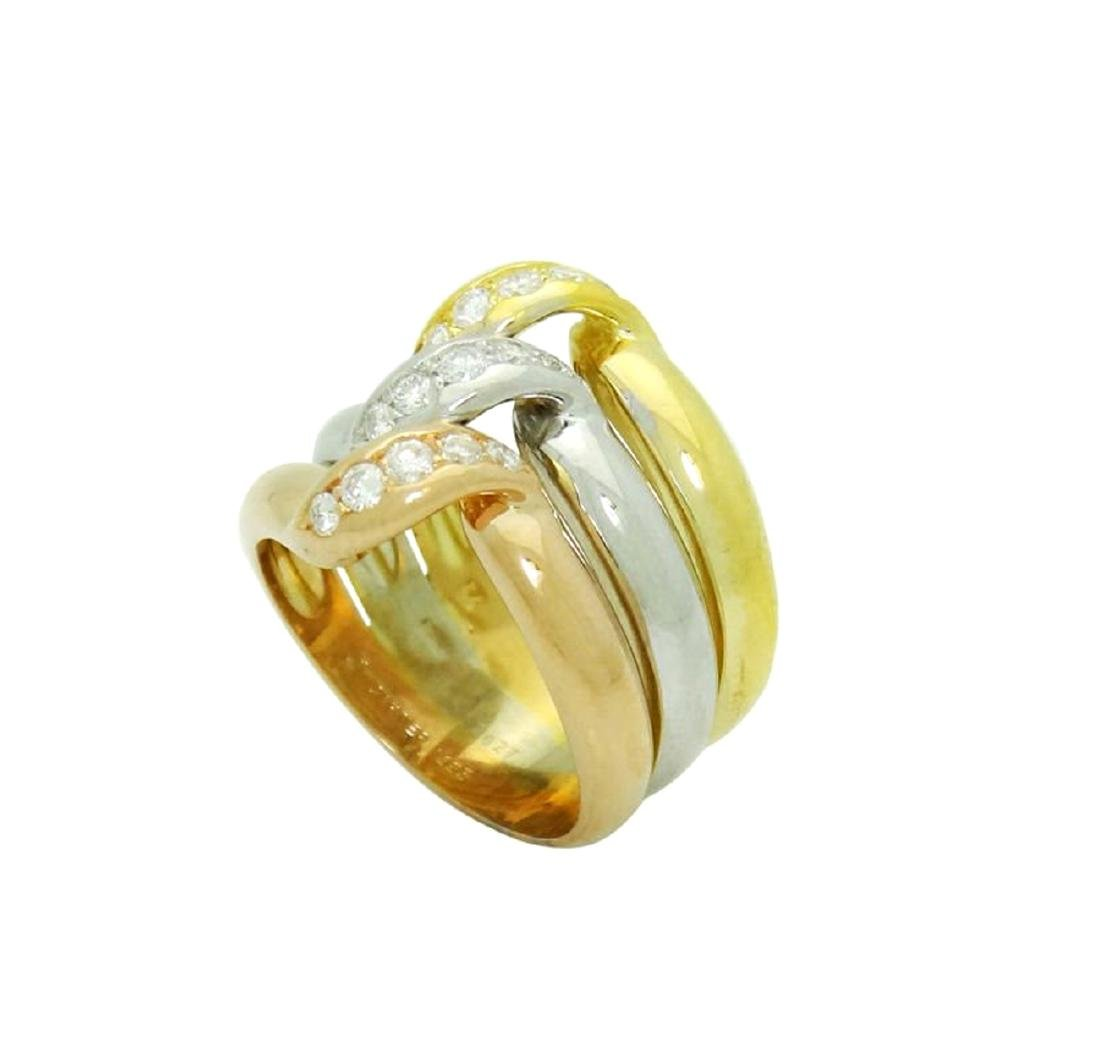 Estate Cartier Tri Color 18k Gold 0.45 Carats TCW VS/F - 5