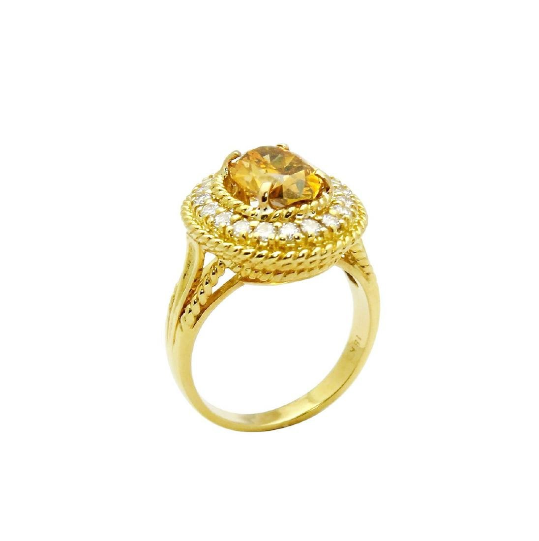 Tiffany & Co. 18K Gold GIA 2.51TCW Yellow Diamond Ring