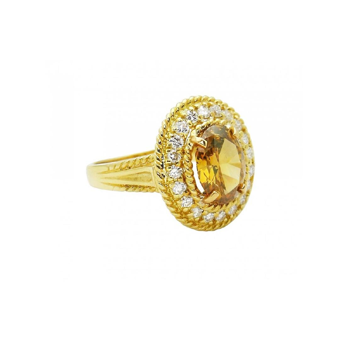 Tiffany & Co. 18K Gold GIA 2.51TCW Yellow Diamond Ring - 2