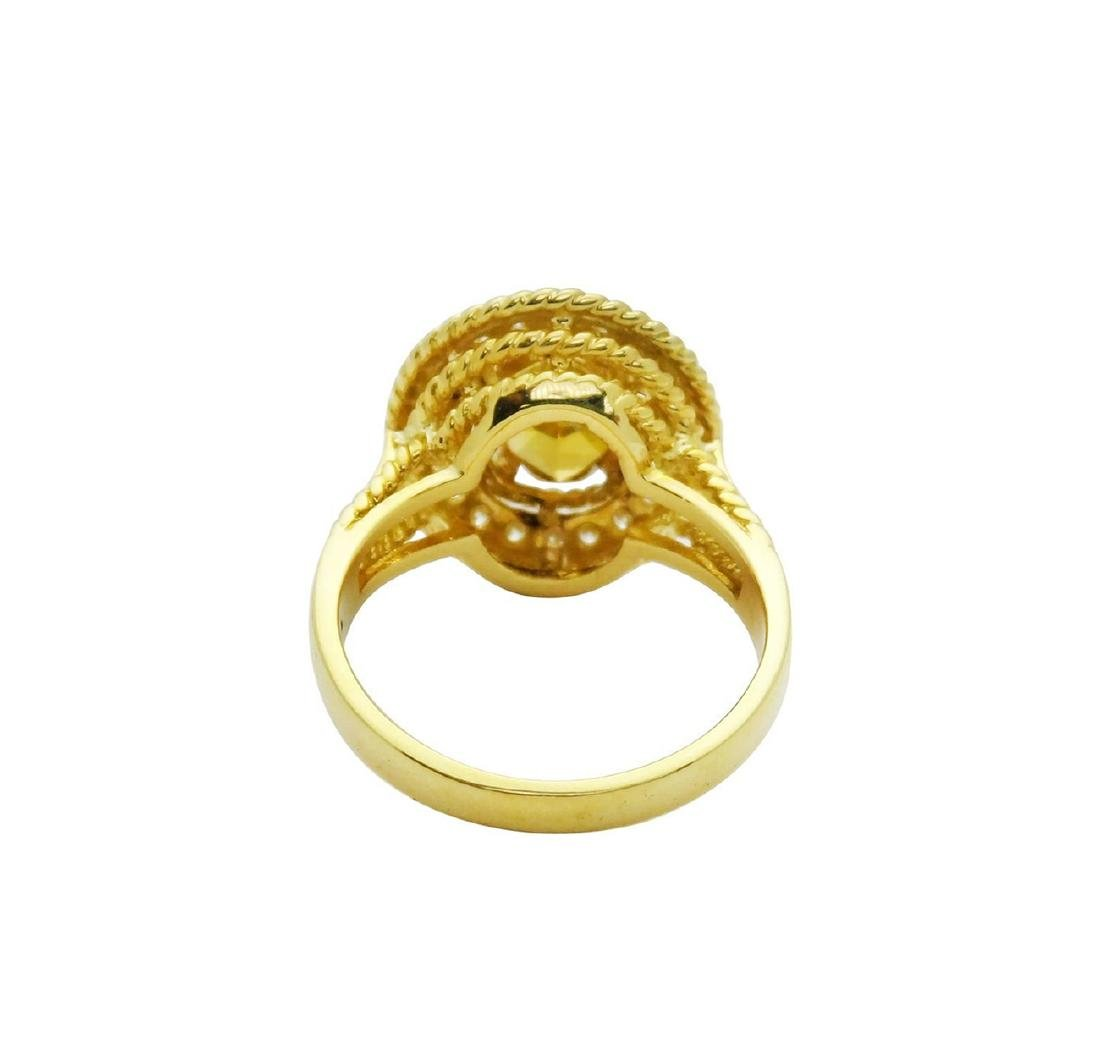 Tiffany & Co. 18K Gold GIA 2.51TCW Yellow Diamond Ring - 4