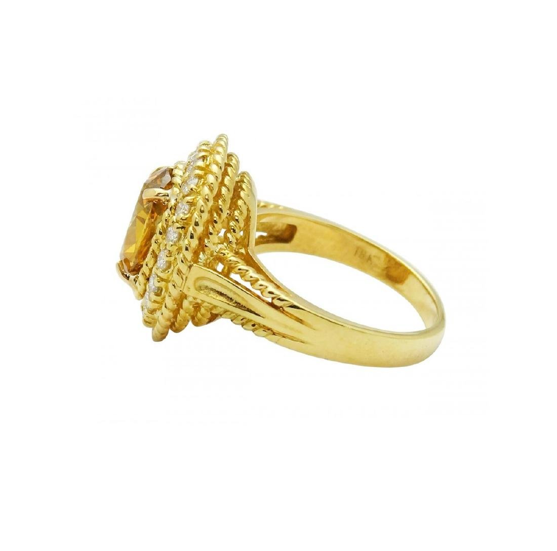 Tiffany & Co. 18K Gold GIA 2.51TCW Yellow Diamond Ring - 6