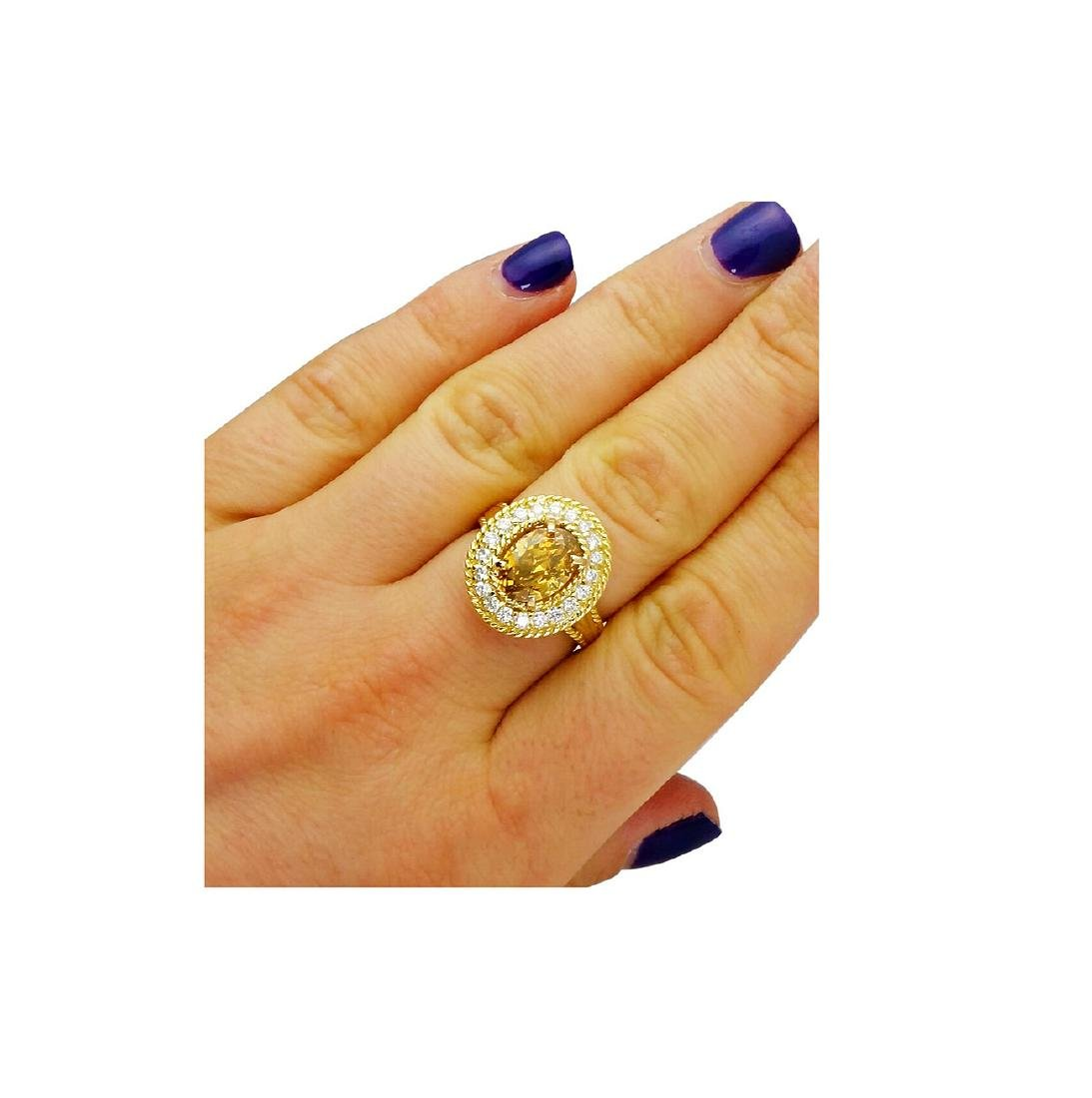 Tiffany & Co. 18K Gold GIA 2.51TCW Yellow Diamond Ring - 8