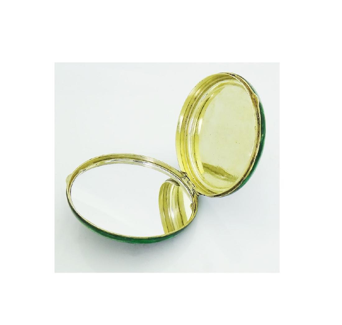 Tiffany & Co. Art Deco Jadiete Jade Dia & Enamel Makeup - 3