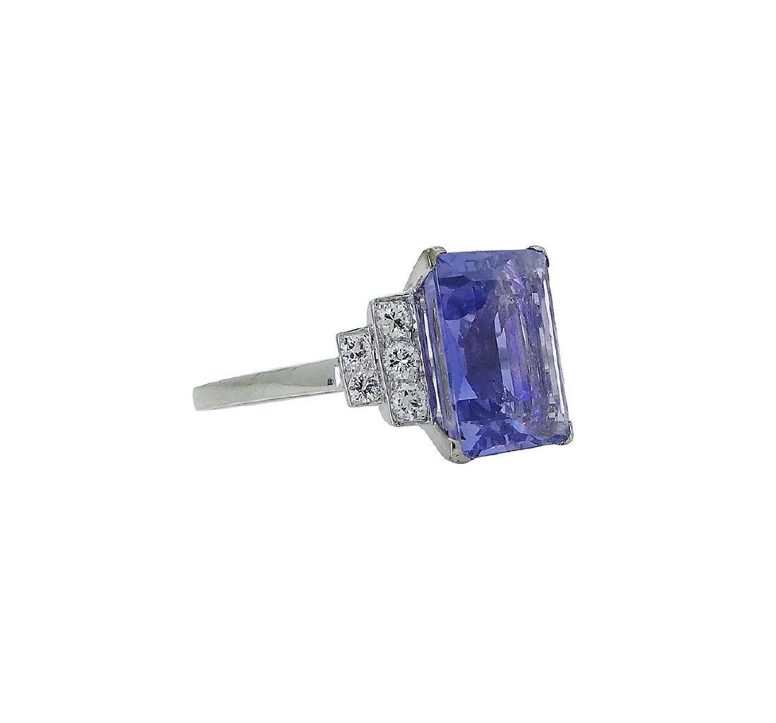 Designer Platinum Diamond & Sapphire Ring Size 6 - 3